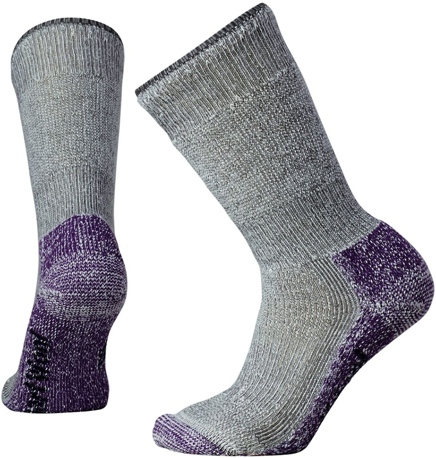 Smartwool Mountaineering Extra Heavy Crew Hiking Socks, 2-4.5 Gray