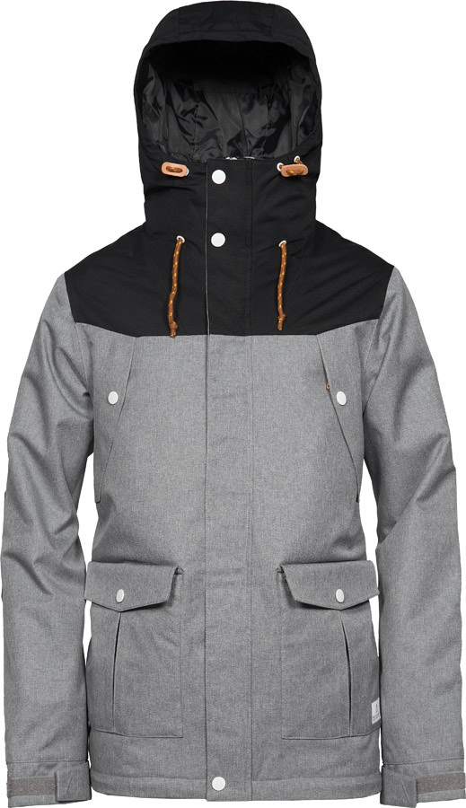 Wearcolour Charge Ski & Snowboard Jacket, L Grey Melange