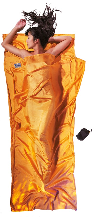 Cocoon TravelSheet Silk Ultralight Sleeping Bag Liner, 220x90cm Sunset