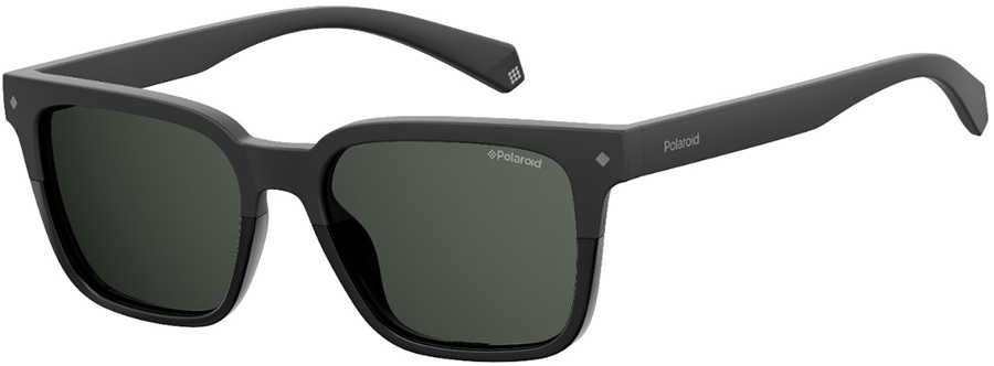 Polaroid Raven Grey Polarized Sunglasses, Black