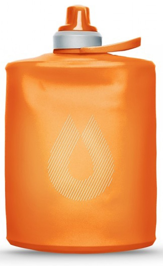 HydraPak Stow Bottle Collapsible Drinks Bottle, 500ml Mojave Orange