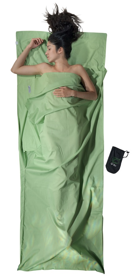 Cocoon TravelSheet Organic Cotton Sleeping Bag Liner, 220x90cm Forest