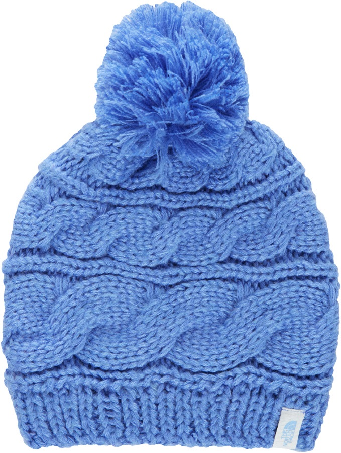 The North Face Triple Cable Pom Winter Bobble Hat, Stellar Blue