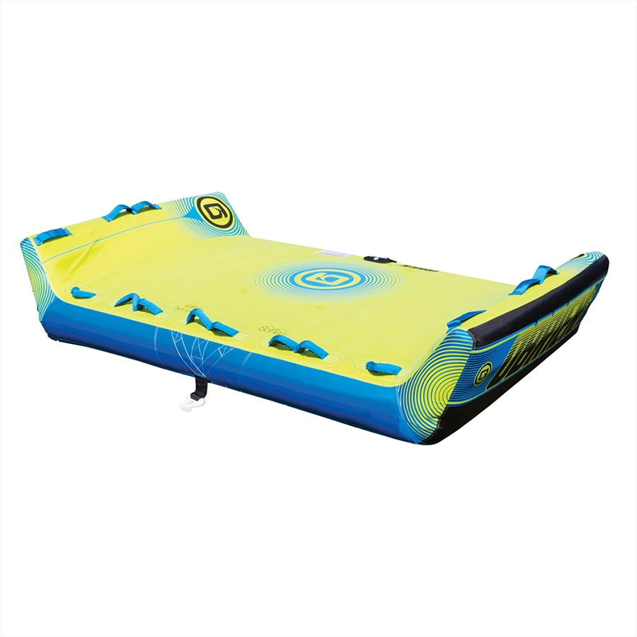 Obrien Booker U Deck Towable Inflatable Tube 4 Rider Blu Yellow 2019 Towing Harness