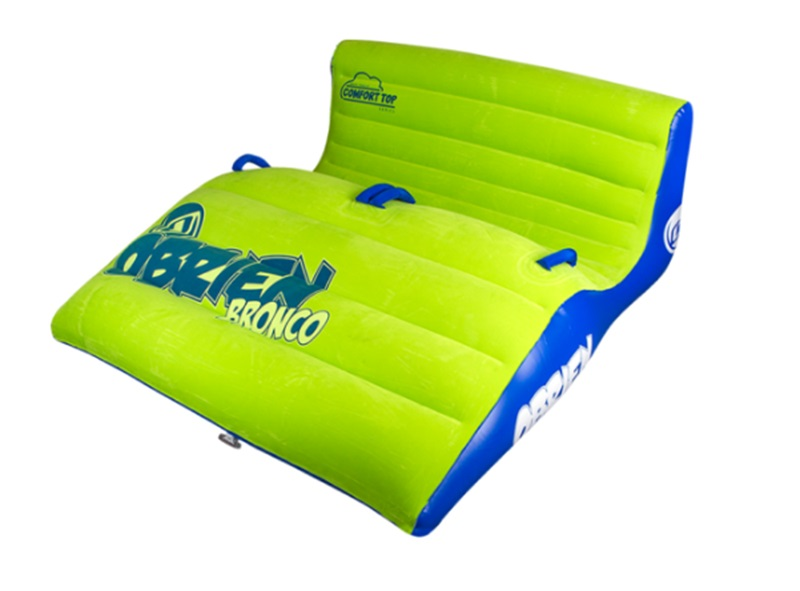 O'Brien Bronco Plush Top Towable Inflatable 2 Rider Green 2017