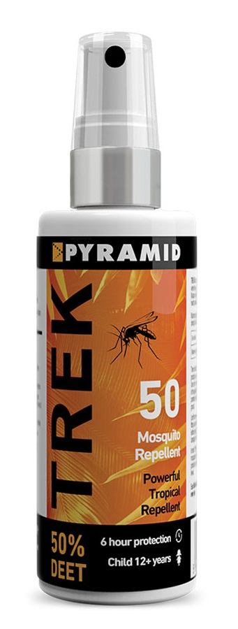 Pyramid Trek 50 Travel Insect Repellent W/Deet, 60ml White