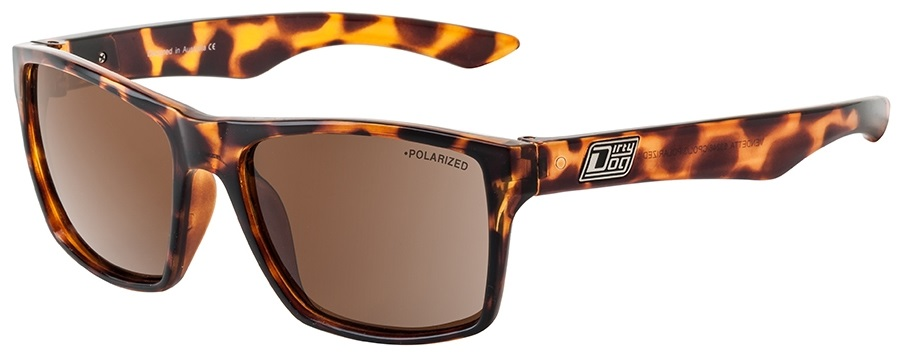 Dirty Dog Vendetta Polarized Sunglasses, L, Tortoise, Brown Polarized
