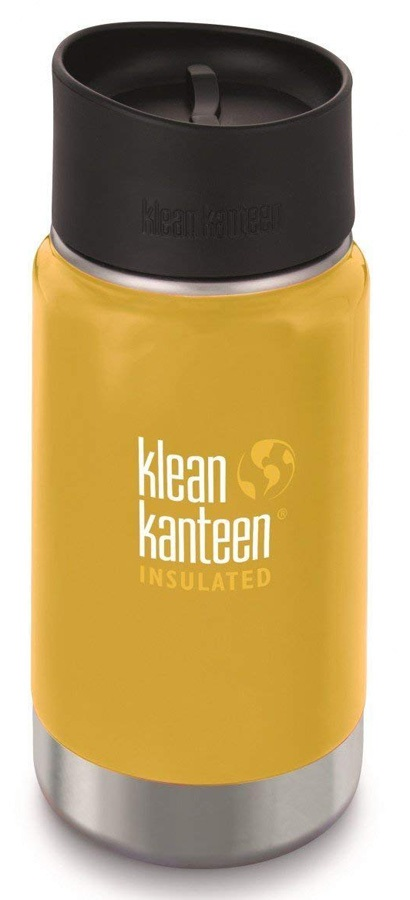 Klean Kanteen Vacuum Flask Insulated Wide Water Bottle, 355ml Lemon Cy