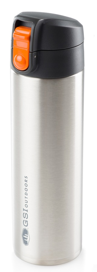 GSI Outdoors Microlite Flip Vacuum Insulated Bottle, 500ml Silver