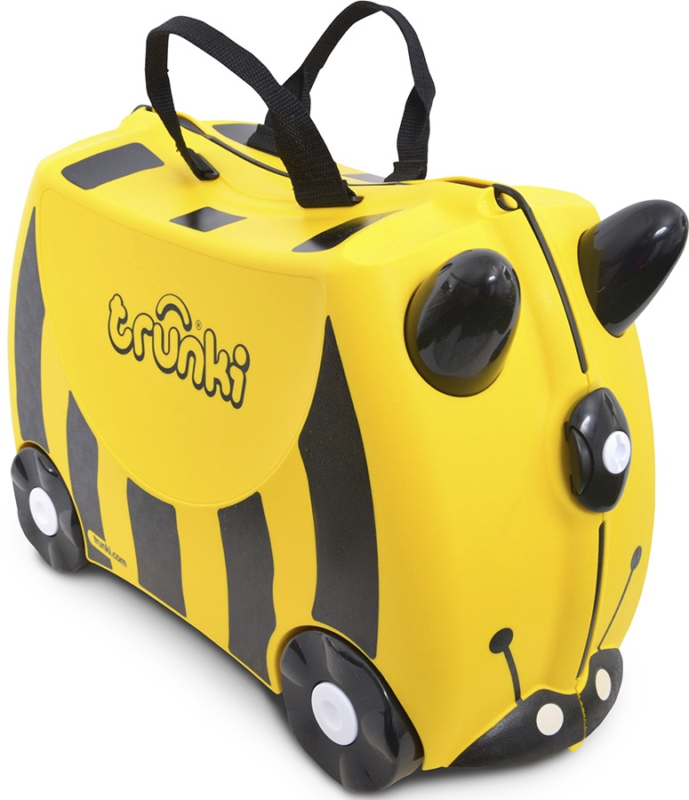 Trunki Bernard Bee Kid's Wheeled Hand Luggage, 18L Yellow/Black