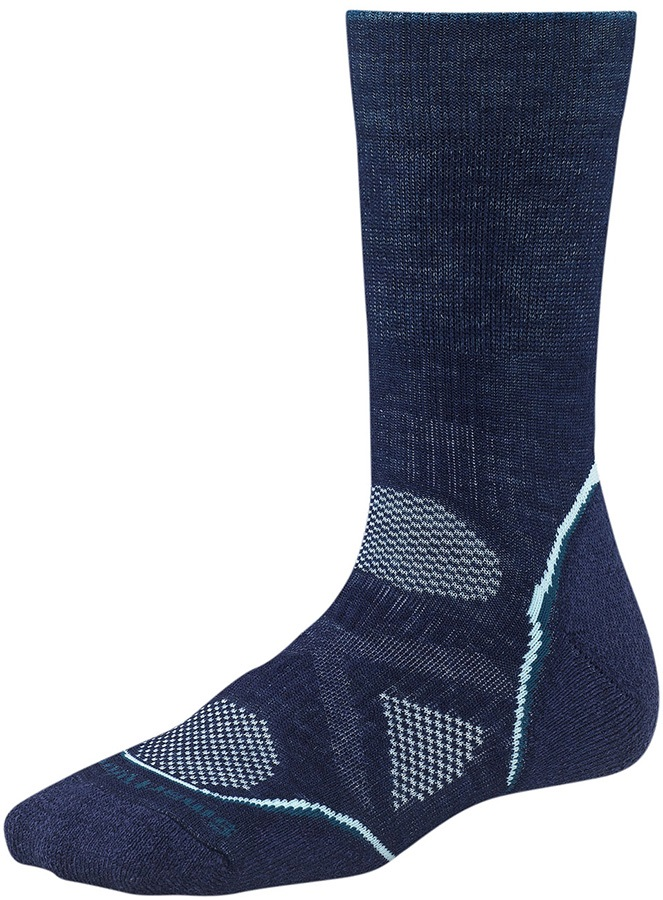 Smartwool PhD Outdoor Medium Crew Women's Hiking Socks 2-4.5 Navy