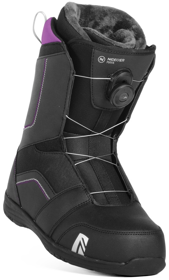 Nidecker Maya Boa Women's Snowboard Boots, UK 5 Black 2019