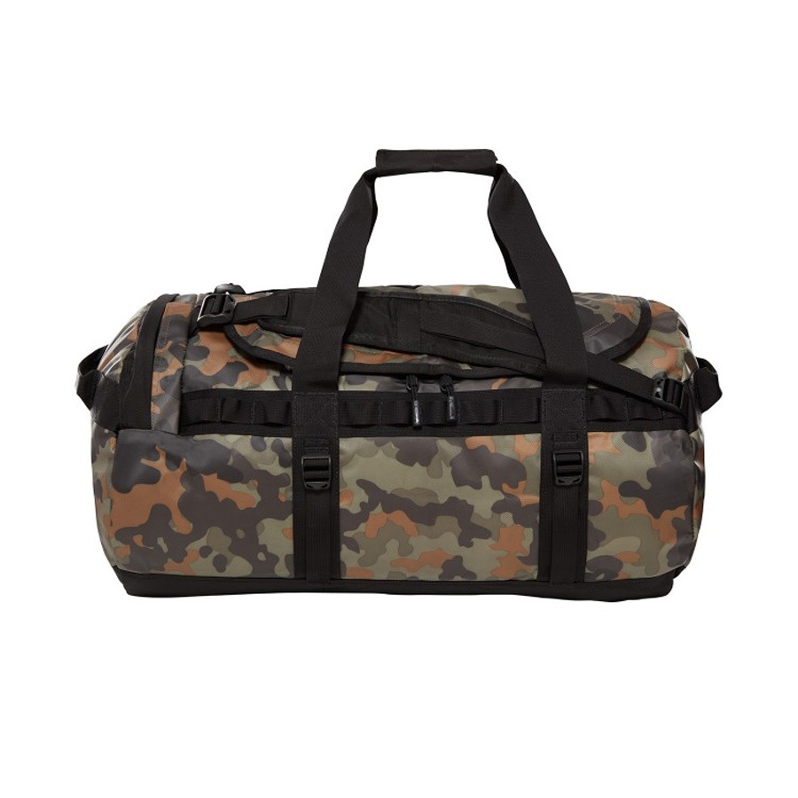 The North Face Base Camp Medium Duffel Travel Bag, 71L Camo / Black