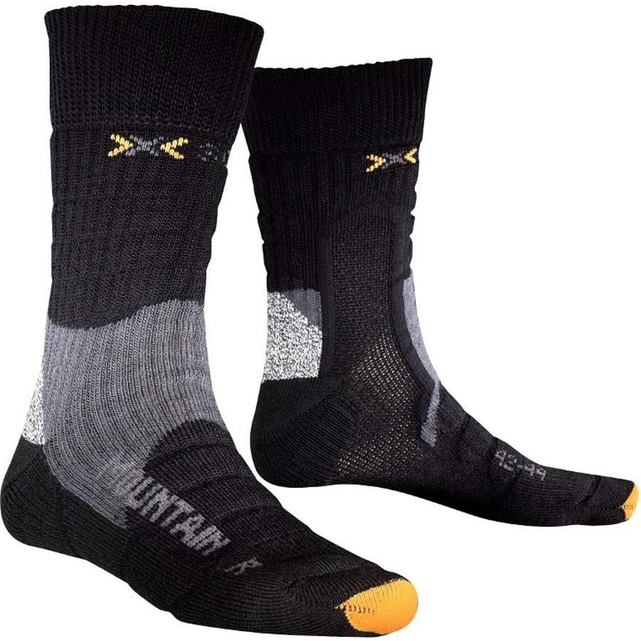 X-Bionic Trekking Mountain Hiking/Walking Socks M/L Black