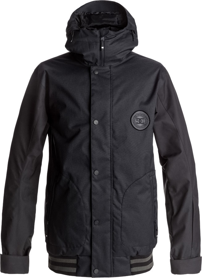 DC Mens DCLA SE Ski/Snowboard Jacket, L Waxed Black