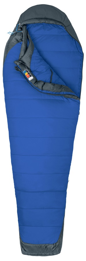 Marmot Trestles Elite 15 Sleeping Bag, Reg. Dark Azure/Slate Grey LZ