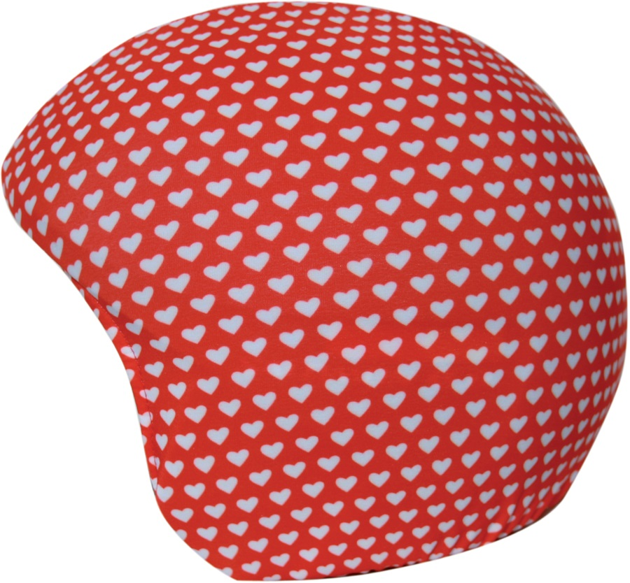 Coolcasc Printed Cool Ski/Snowboard Helmet Cover, Red/White Hearts