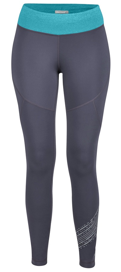 5c7d283b6bce Marmot Fore Runner Tight Women's Baselayer Leggings, UK 12 Grey/Blue