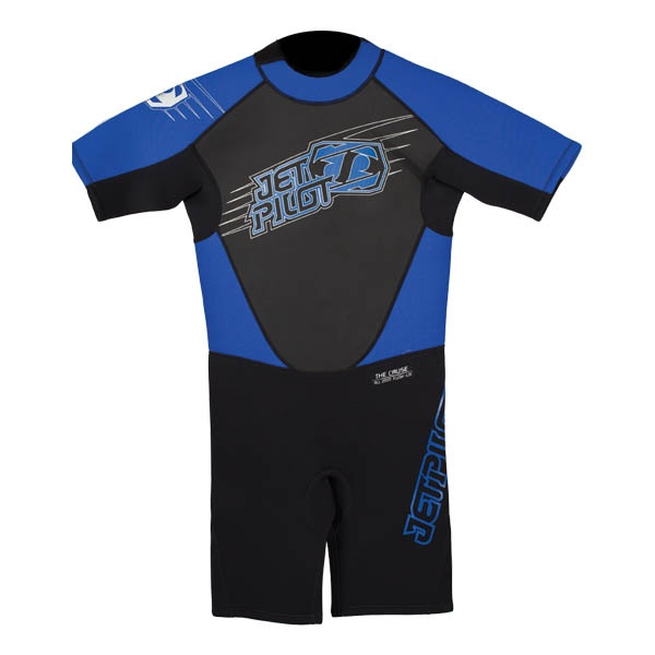 JetPilot Cause Youth 2/2 Shorty Wetsuit, M, 10-11 Years Blue