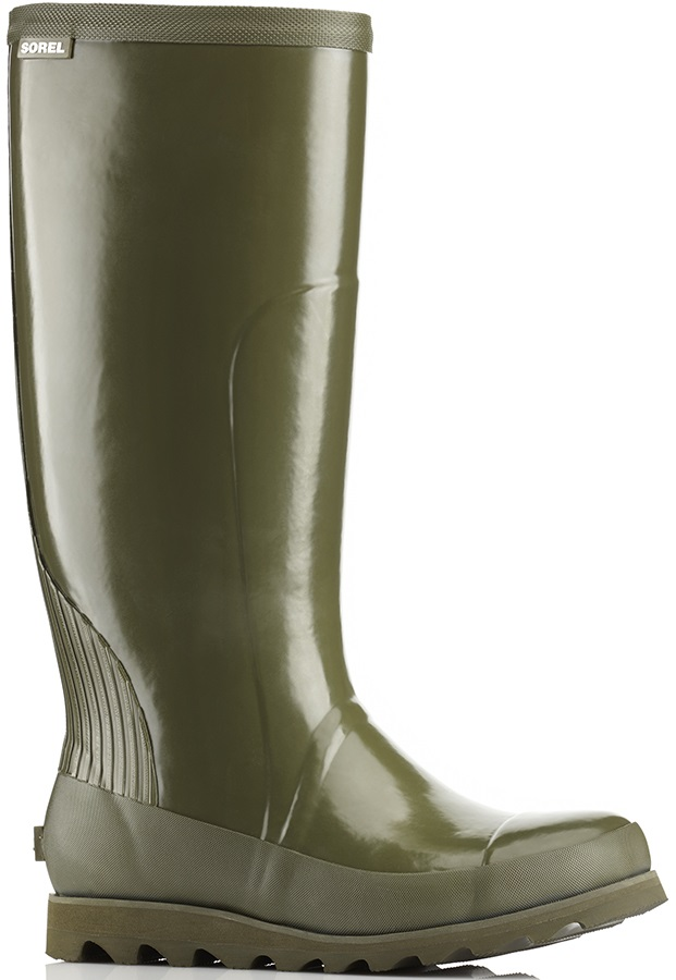 Sorel Joan Rain Tall Gloss Women's Wellies, UK 3 Nori/Zest