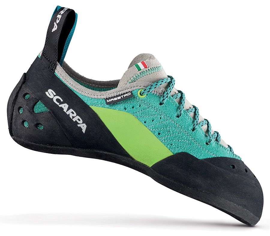 Scarpa Womens Maestro Rock Climbing Shoe: UK 5.5 | EU 39, Teal