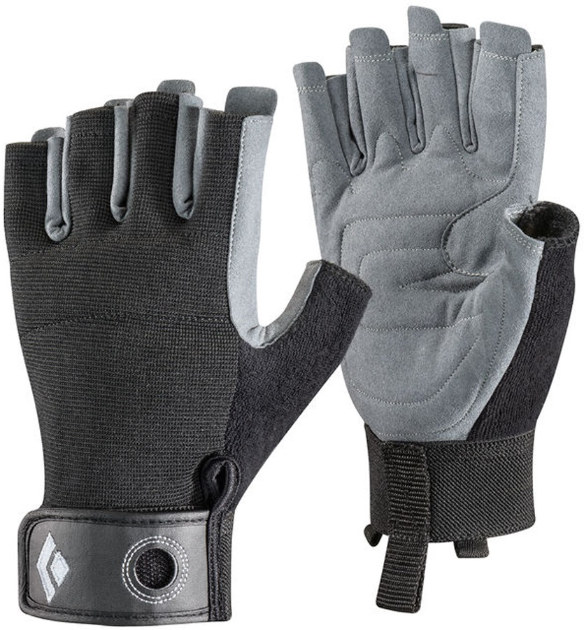 Black Diamond Adult Unisex Crag Half-Finger Rock Climbing Gloves, L