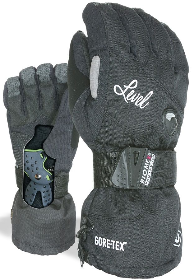 Level Half Pipe Gore Tex Women S Snowboard Ski Gloves Black