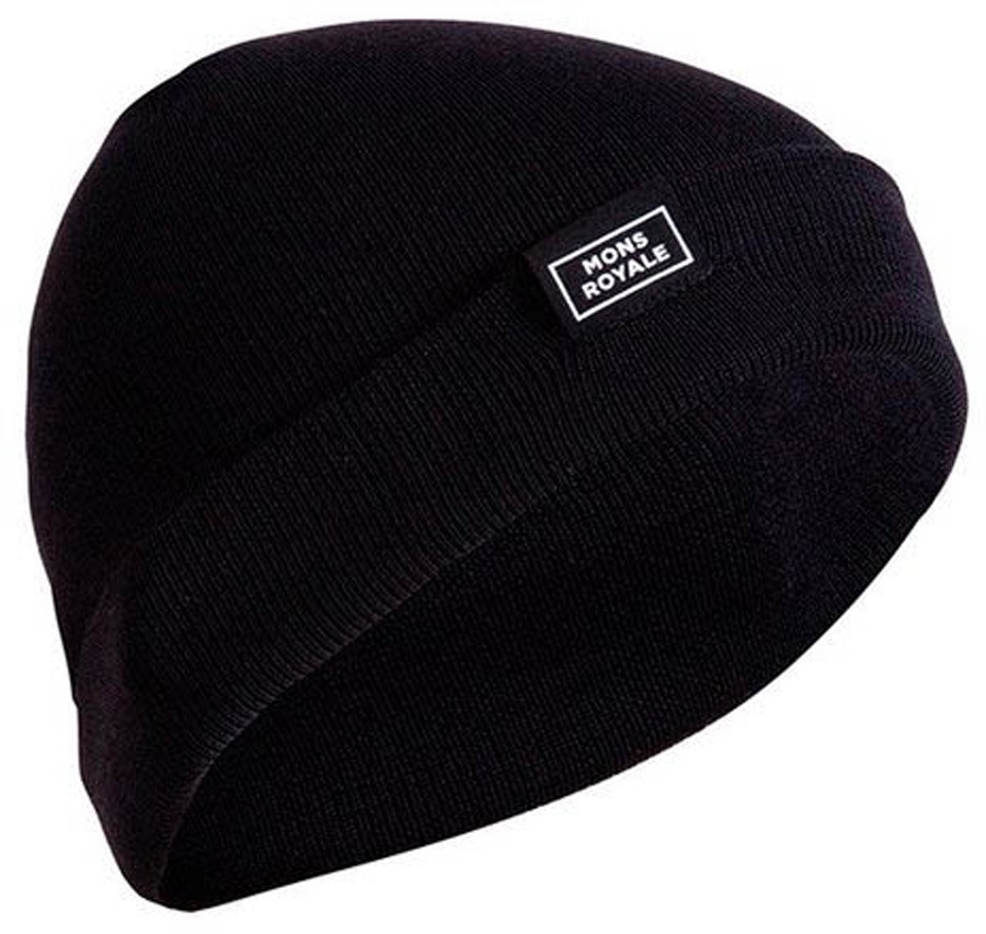 Mons Royale McCloud Beanie, One Size Black