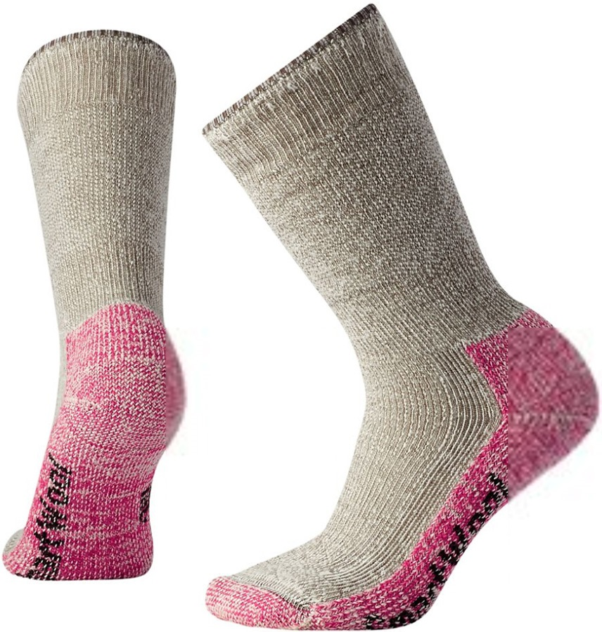 Smartwool Mountaineering Extra Heavy Crew Hiking Socks, 5-7.5 Pink