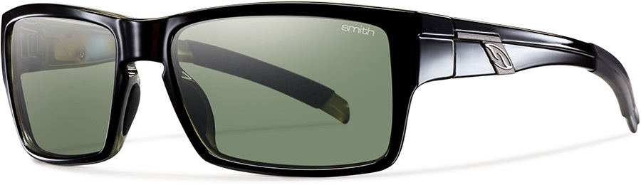 Smith Outlier Grey Green Sunglasses, Shiny Black