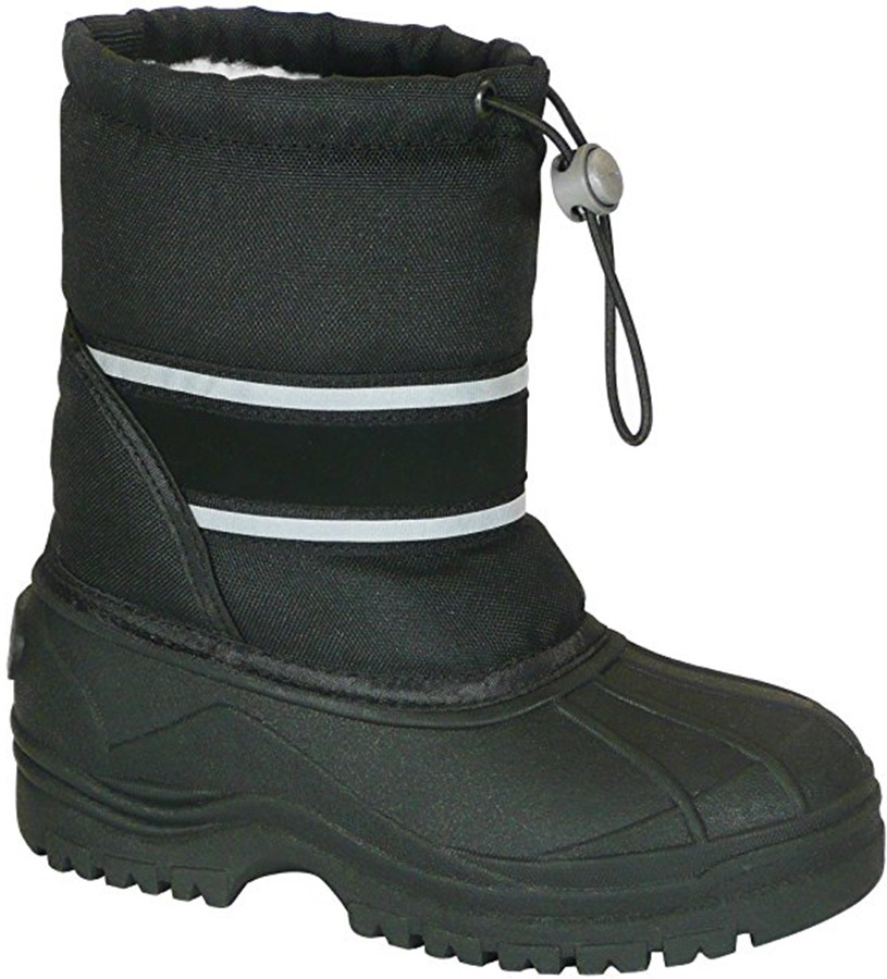 Manbi Arctic Kid's Snow Boots, UK 1-2.5 Black