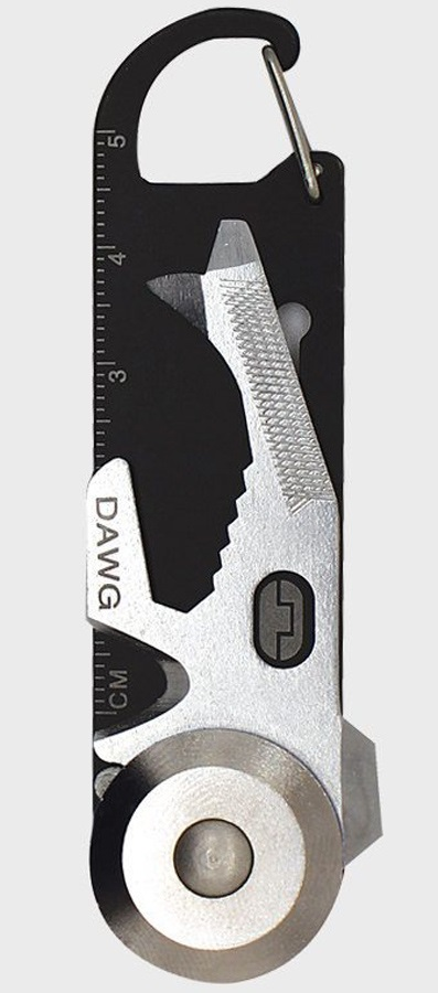 True Utility Dawg Carabiner Multitool Travel-Friendly Pocket Tool