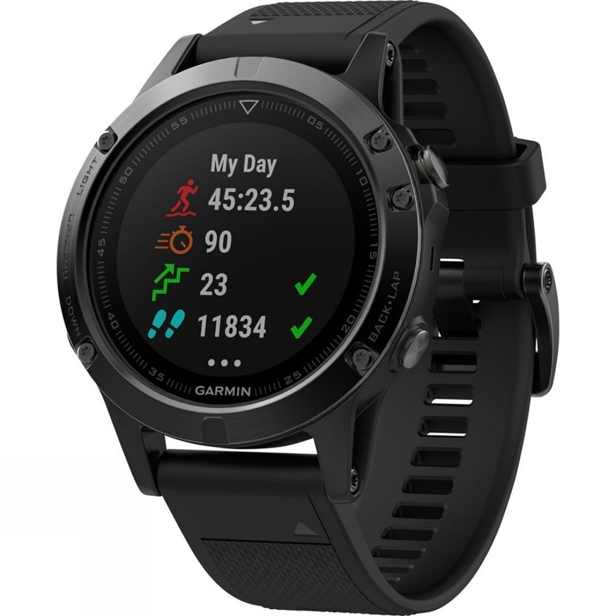 Garmin Fenix 5 Watch Sapphire Multisport GPS Smartwatch Black