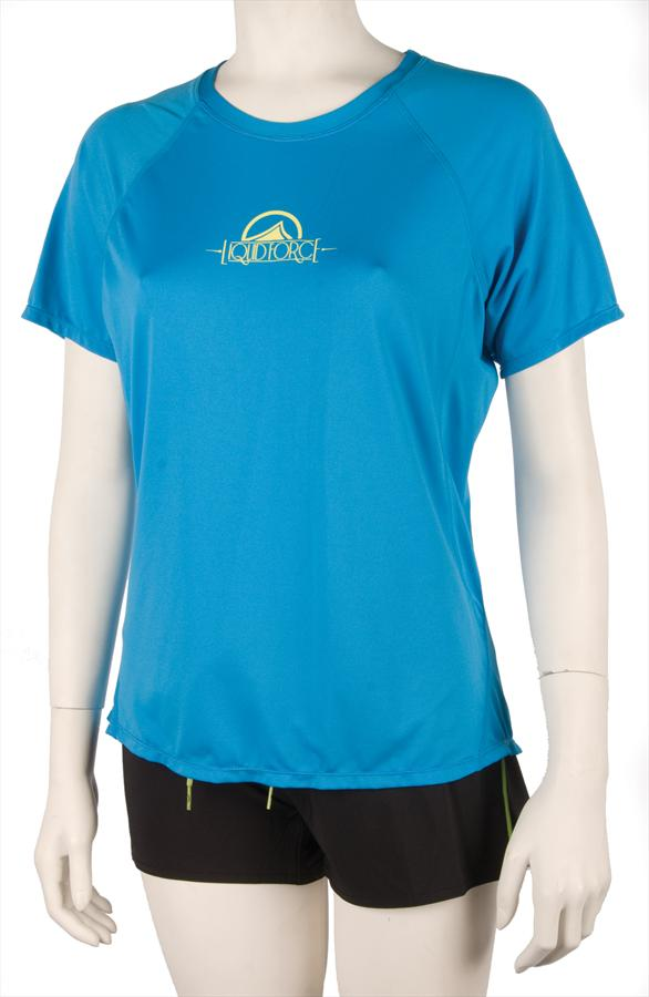 Liquid Force Morning Ride Ss Women's Riding Top, Medium, Blue