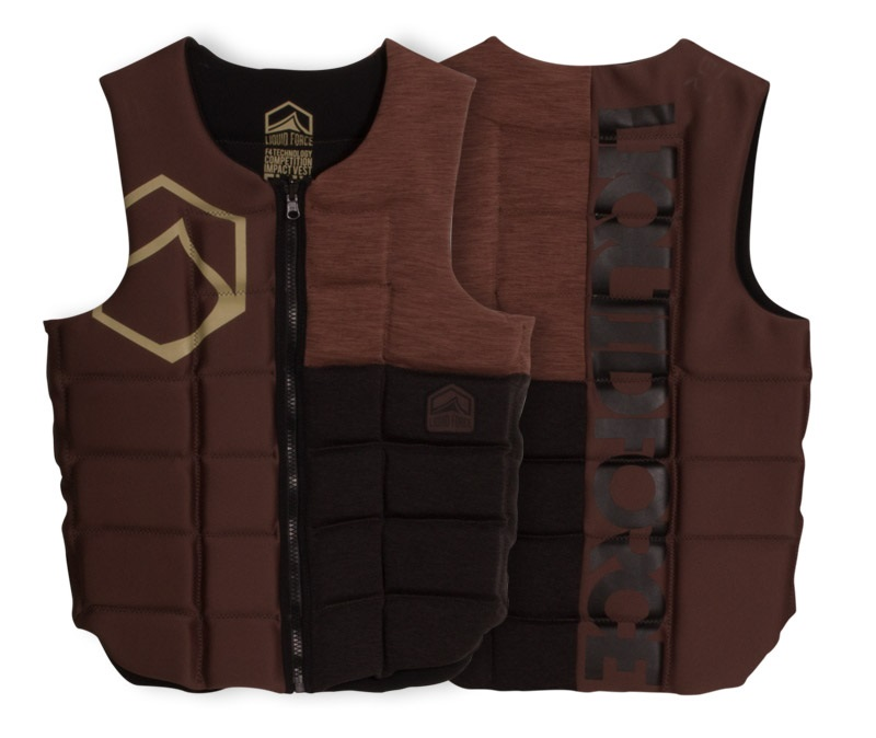 Liquid Force Flex Wakeboard Impact Vest, L Tan