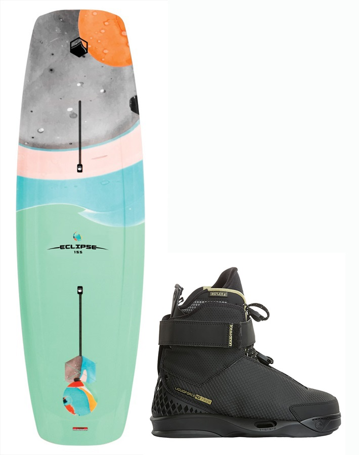 Liquid Force Eclipse | Trek 4D Wakeboard Package, 151 | 9-10 Blue