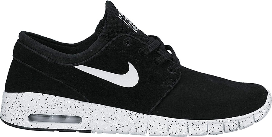 870ea2b37f84a Nike SB Stefan Janoski Max L Skate Shoes UK 13 Black White