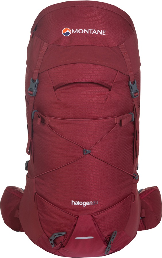 Montane Halogen Mountain Climbing Backpack, 33L M/L Redwood