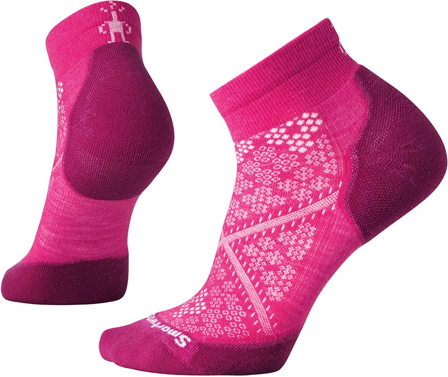 Smartwool PhD Run Light Elite Low Cut Running Socks, 2-4.5 Potion Pink