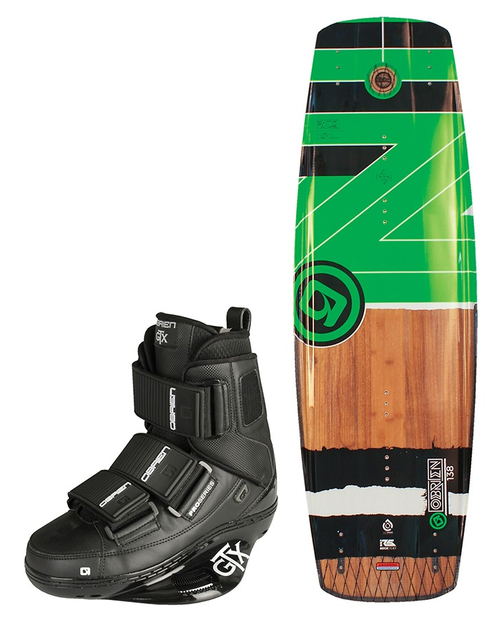 O'Brien Fade | GTX Park Wakeboard Package, 138 | 5-7 Green 2018