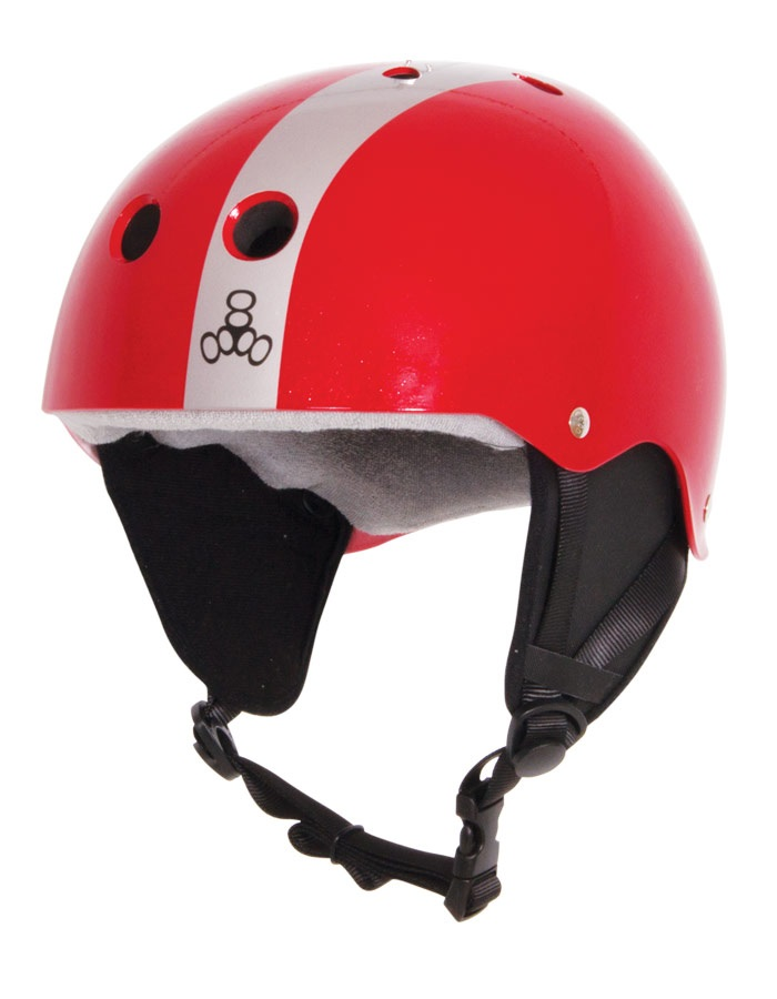 Liquid Force FLASH Wakeboard Helmet, S Red Silver