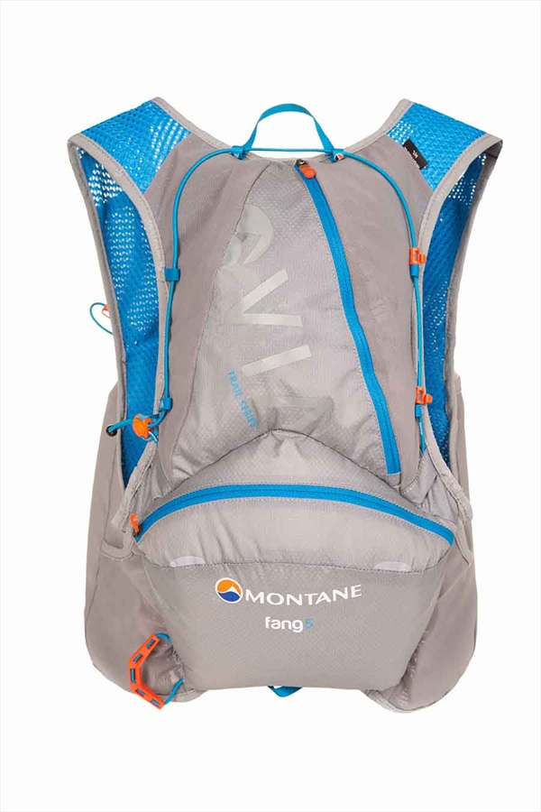 Montane VIA Fang 5 Trail Running Vest Pack, S/M Cloudburst Grey