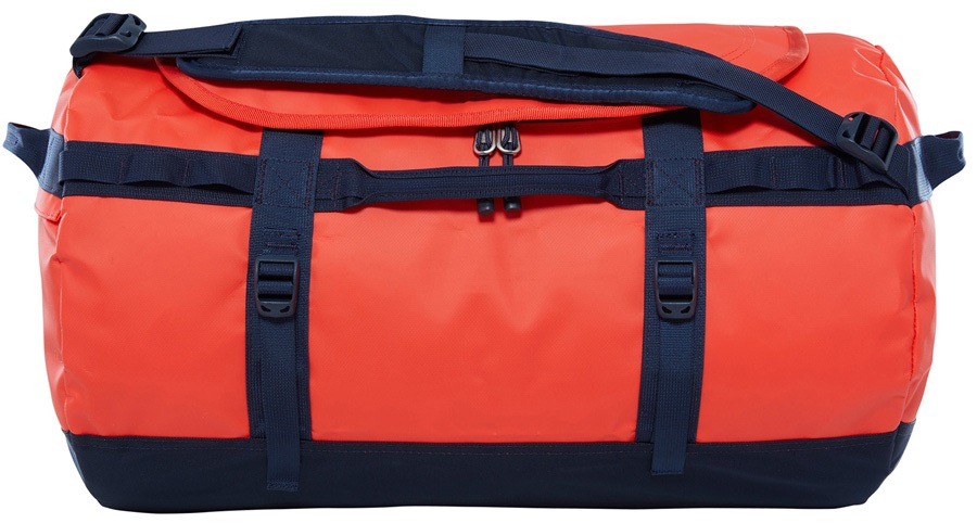 The North Face Base Camp Small Duffel Travel Bag, 50L Poinciana Orange