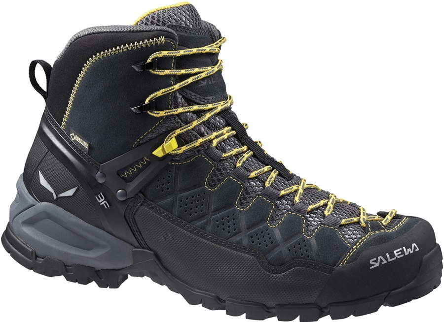 Salewa Alpine Trainer Mid GTX Men's Hiking Shoe UK 9.5 Carbon/Ringlo