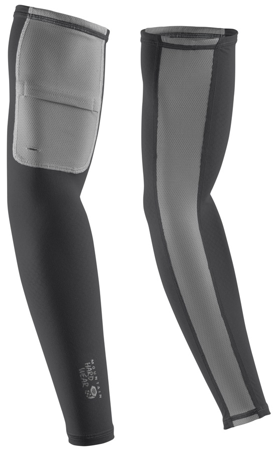 Mountain Hardwear WayCool Arms Compression Sleeves, M Shark