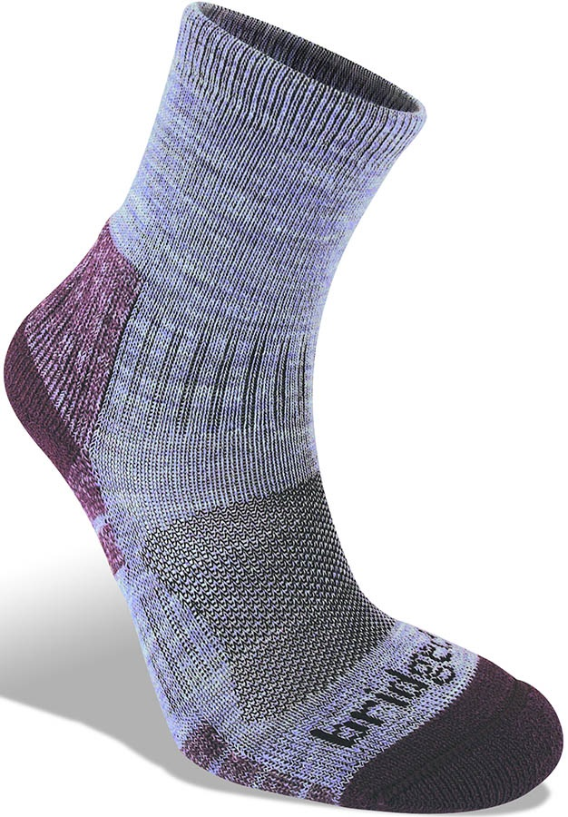 Bridgedale Hike Lightweight 3/4 Crew Women's Hiking Socks, M Heather