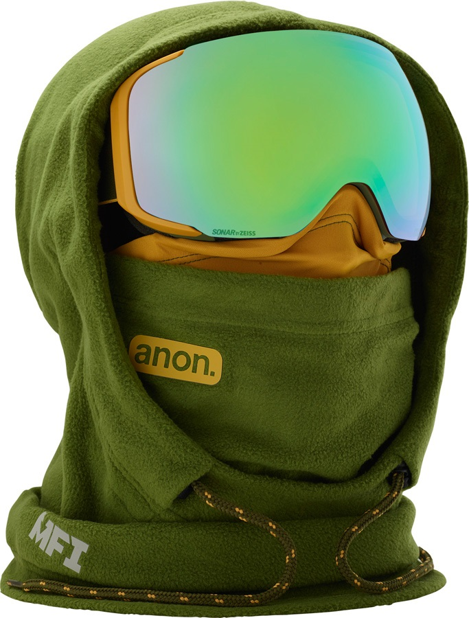 Anon XL Hooded Clava Anon MFI Only MFI Facemask, Green