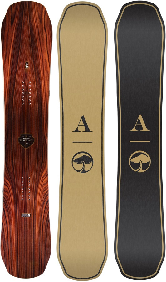 Arbor Wasteland Reverse Camber Snowboard, 158cm 2018
