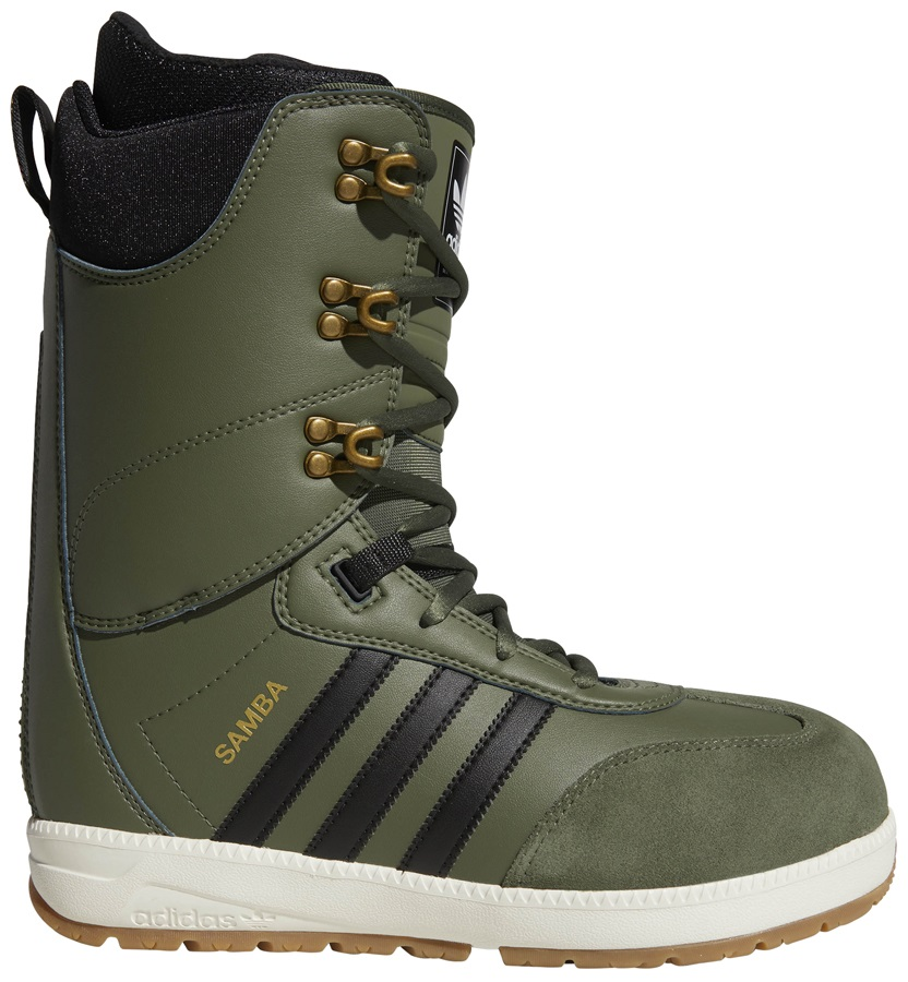 Adidas Samba ADV Snowboard Boots, UK 10 Base Green/Core Black 2019