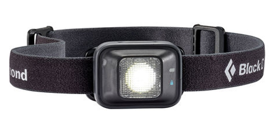 Black Diamond Iota 150 Lumen LED Headlamp, Adjustable, Black